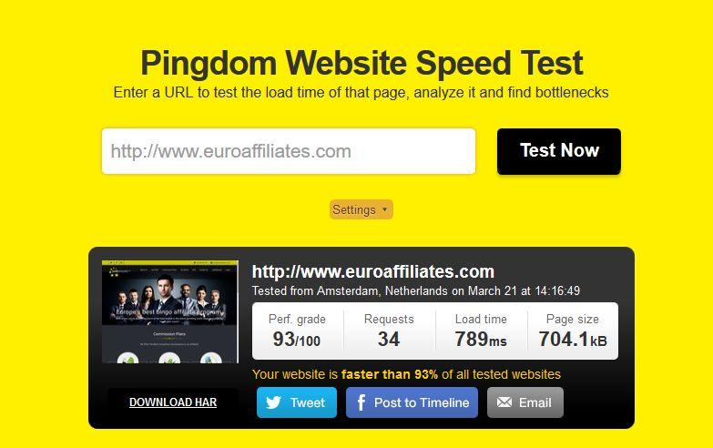 PageSpeed- EuroAffiliates_com